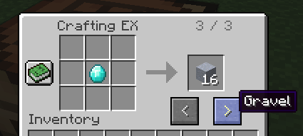 Crafting EX with sample recipes